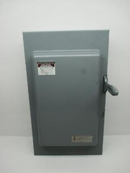 Westinghouse XU362 Double Throw Safety Switch 600V 60A