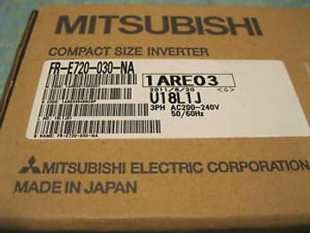 FR-E720-030-NA Mitsubishi  FRE720030NA COMPACT SIZE INVERTER 3PH AC200-240v