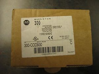 NEW ALLEN BRADLEY 300-COD930 SIZE 2 STARTER CONTACTOR
