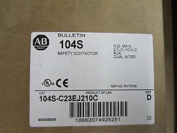 NEW 104S-C23EJ210C ALLEN BRADLEY SAFETY REVERSING CONTACTOR ASSEMBLY