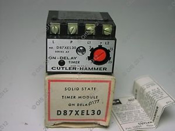 CUTLER HAMMER D87XEL30 SOLID STATE RELAY TIMER MODULE 120VAC ON DELAY New