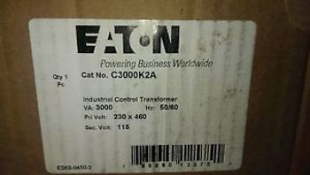 Eaton Cutler Hammer general purpose transformer MFG # C3000K2A