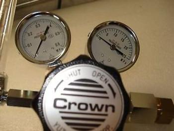 Yutaka Crown Gas Regulator GSN2-4-V, FR-ⅡS-0P, GF1-4-V Series (Lot of 3)