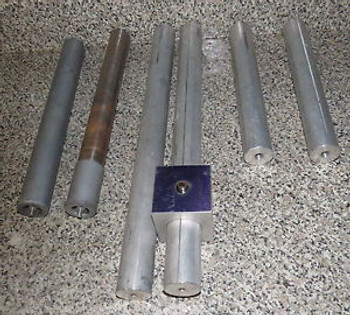 ++ LOT OF 6 OPTICAL MOUNT RODS-  101/2 11 13 - 1/2 DIAMETER