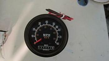 "12 Volt 3.75""   Speedometer 0-80 MPH Ametek Dixson"