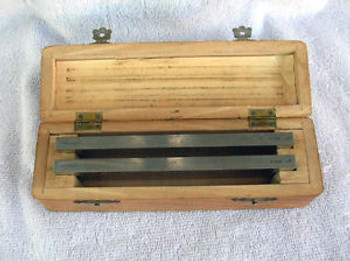 2 Vintage R. Jung  Microtome Blades Made in Germany in Original Oak Case