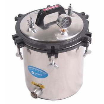 110V PORTABLE PRESSURE 18L Steam Autoclave Sterilizer Dental Equipment