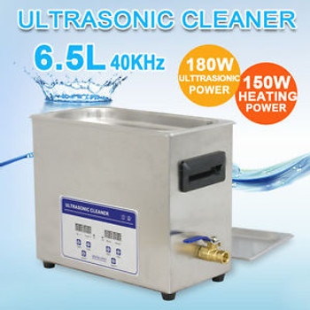Stainless Steel 6,5L Ultrasonic Cleaner Heater Timer Bracket Jewelry Lab Glasses