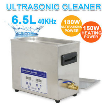 New Stainless Steel 6,5L Liter Industry Heated Ultrasonic Cleaner Heater w/Timer