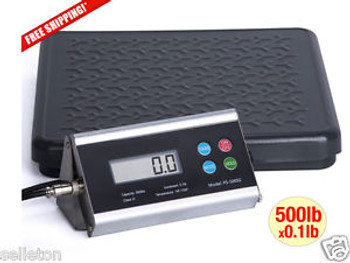 NEW 500 lbs x 0.1 lb Shipping scale floor kitchen digital balance bench postal