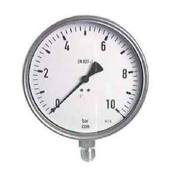 6 3/10In Stainless Steel Manometer 0/10 Bar Chemistry Design