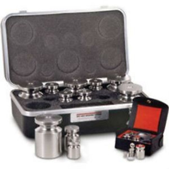 0.2 LB - 0.001 LB Rice Lake Calibration Stainless Steel Avoirdupois Class F Set