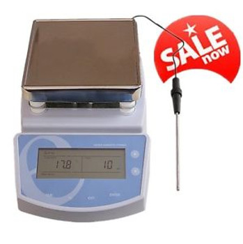 +Temperature 300? Digital Hot Plate Magnetic Stirrer Electric Heating Mixer Lab