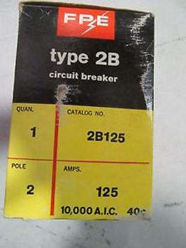 FPE 2B125 Circuit Breaker 125 Amp 2 Pole