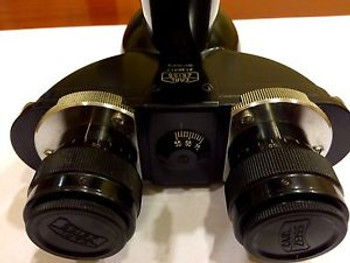 Antique Microscope Binocular Head In A Mint Condition
