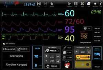 Ecg Simulator 25 Rhythms, Simulate 12Lead,X-Rays,Pacing,Sync,D-Fib,P,Co2,Spo2