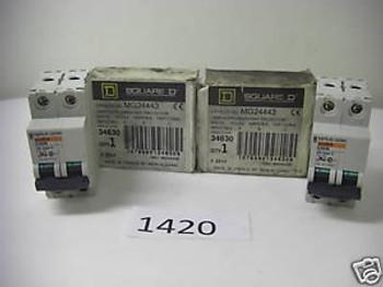 (1420) 2 SQUARE D  2P CIRCUIT BREAKERS MG24443