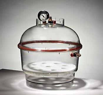 Azzota Round Vacuum Desiccator With Vacuum Gauge, Dia 10, 10L