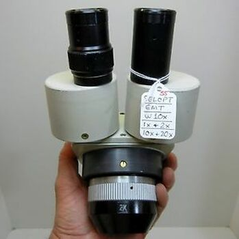 SELOPT EMT Microscope, W10X Eyepieces Dual 10X or 20X, 84mm Head NICE OPTICS #55