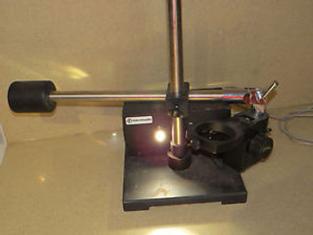 ++ FISHER SCIENTIFIC STEREOMASTER CAT # 12-5 MICROSCOPE ILLUMINATOR BOOM  STAND