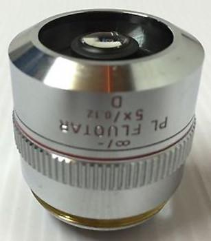 LEITZ WETZLAR PL FLUOTAR 5X / 0.12 D MICROSCOPE OBJECTIVE