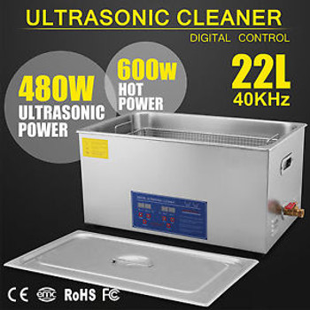 22L Liter 480W Stainless Steel Industry Heated Ultrasonic Cleaner Heater Timer U