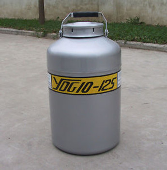 10 L 125 mm Cryogenic Container Liquid Nitrogen LN2 Tank with Straps