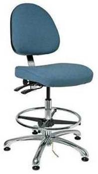 BEVCO 9351M-E SLATE FABRIC Ergonomic Chair, Fabric, Slate Blue