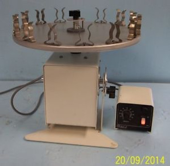 . GLAS-COL VARIABLE SPEED TEST TUBE ROTATOR CAT. NO. 099A, RD4512, S/N: 373900,
