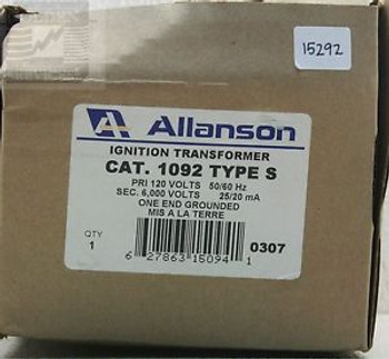 Allanson 1092 Ignition Transformer 150 VA (NIB)