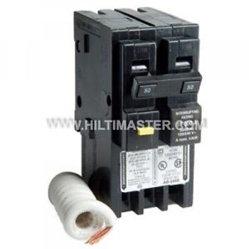 SQUARE D HOMELINE 50 AMP TWO-POLE GFCI CIRCUIT BREAKER New FAST