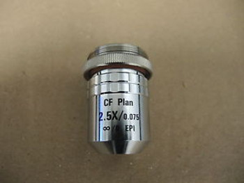 Nikon 81834-0 Objective Lens CF Plan 2.5x/0.075 ?/0 EPI WD 8.8 Optistation VII