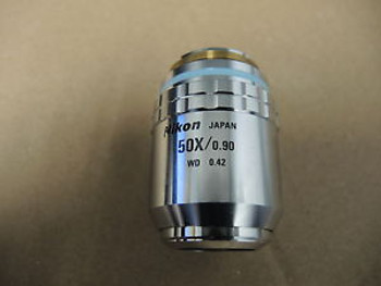 Nikon Objective Lens CF Plan 50x/0.90 ?/0 BD  WD 0.42  Optistation VII