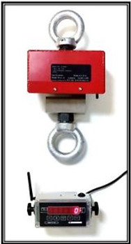 5,000 X 0.5 LBS WIRELESS CRANE SCALE - HANGING SCALE - INDUSTRIAL CRANE SCALE