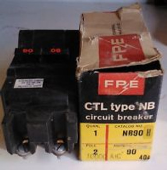FPE NB 90H 120/240 volt 90 amp 2 pole bolt in circuit breaker