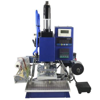 110V Hot Foil Stamping Machine Air Pneumatic Leather PU PVC Logo Press 8x10cm