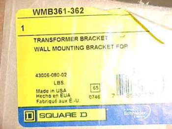 NEW SQUARE D WMB361-362 WALL MOUNT BRACKET TRANSFORMER