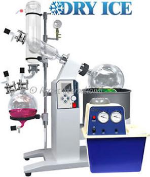 Ai SolvenVap 5L Rotary Evaporator w/ Dry Ice Condenser, Vacuum Pump & Auto-Lift