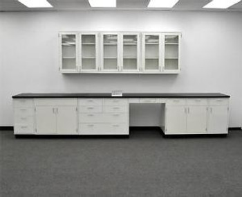 15 Base Fisher Hamilton Laboratory Cabinets & 9 Wall Cabinets (PA3-OPEN 2)