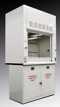 4 Chemical Laboratory Fume Hood w/ Flammable Base Storage Cabinet (NLS-401)
