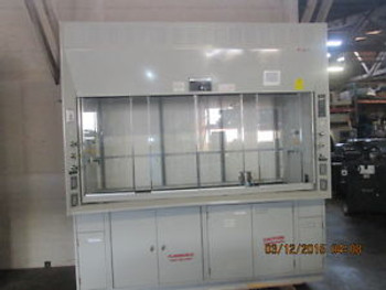 8 FOOT KEWAUNEE LABORATORY FUME HOOD WITH FLAMMABLE CABINETS
