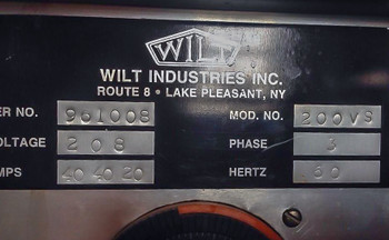 Wilt Model 200VS Electric Glass Annealing Oven/Glassblowing