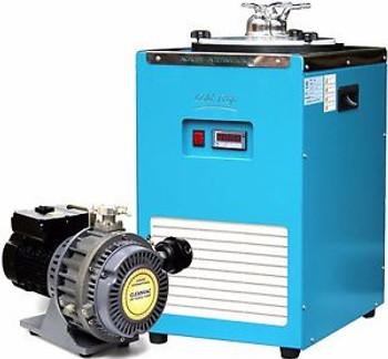 Ai CleanVac 5.1 cfm Scroll Vacuum Pump & T40 -40°F Cold Trap Combo Oven