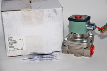 """Asco 8210G089 120/60Ac 2-Way Stainless Steel 1"""" Solenoid Valve Red Hat"""