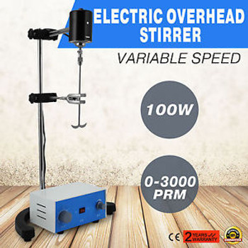 Electric Overhead Stirrer Mixer Height Adjustble Drum Mix 100W New Professional
