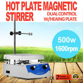 Sh-3 Hot Plate Magnetic Stirrer Mixer Mixing Stirring Anodized Aluminium 1600Rpm