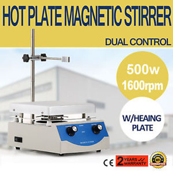 Sh-3 Hot Plate Magnetic Stirrer Mixer Stirring Laboratory 17X17Cm Dual Control