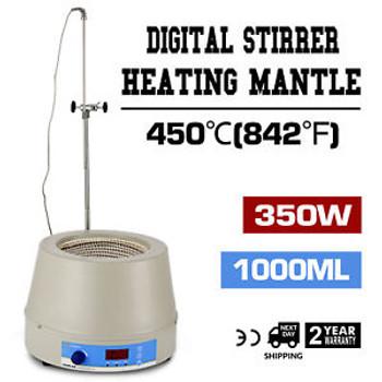 1000Ml Electric Digital Lcd Magnetic Stirring Heating Mantle 110V 350W Spraying