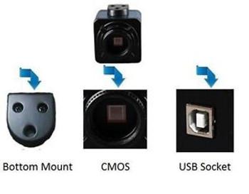 Dc500 5M Color Pixel Industrial Cam Camera 1/2.5 Inch Cmos Sensor C/Cs Type Usb