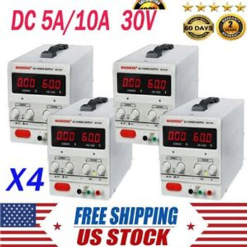 4X 10A 30V Variable Percision Universal Dc Dual Digital Power Supply Us Plug Ht